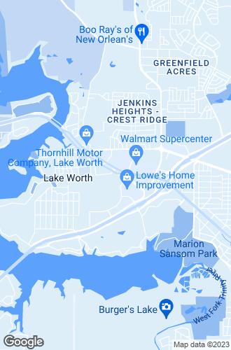 Map of Lake Worth