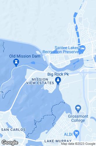Map of Santee