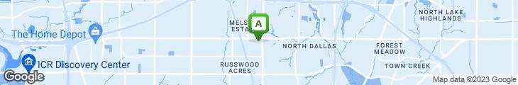 Map of Sonny Bryan's - Preston Rd