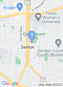 UNT Denton map