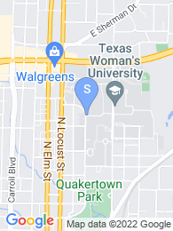 Texas Womans University map