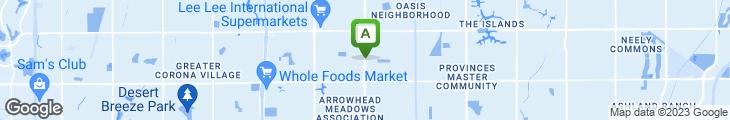 Map of Mike Pulos' Spaghetti Company