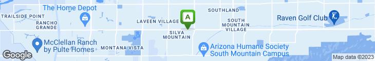 Map of Aunt Chilada's