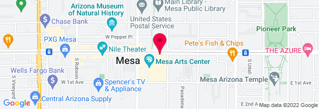 Map for Tom and Janet Ikeda Theater, Mesa Arts Center