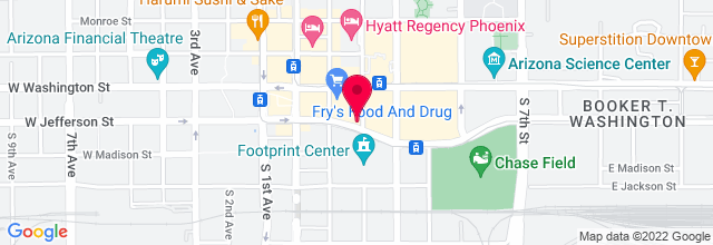 Map for Hard Rock Café - Phoenix