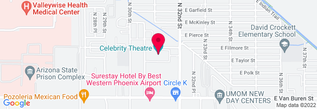 Map for Celebrity Theatre