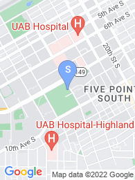 University of Alabama Birmingham map