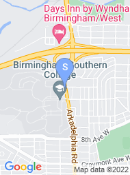 Birmingham Southern College map