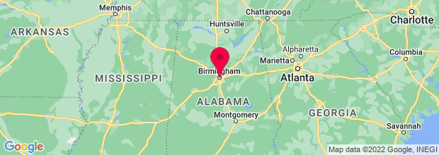 Map of Birmingham, AL, US