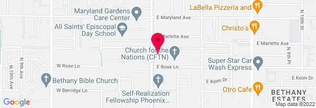 Map for Church for the Nations