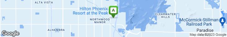 Map of Aunt Chilada's at Squaw Peak