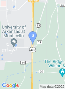 University of Arkansas Monticello map