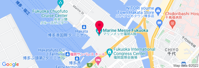 Map for Marine Messe Fukuoka - マインメッセ福岡