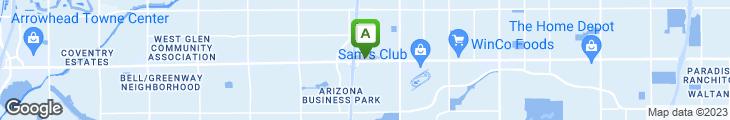 Map of Black Bear Diner