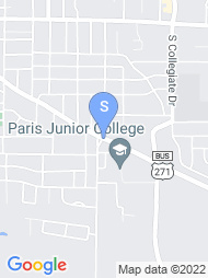 Paris Junior College map