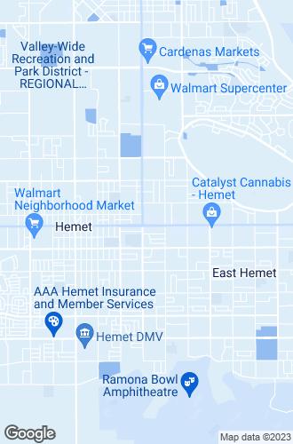 Map of Hemet