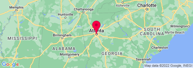 Map of Atlanta, GA, US