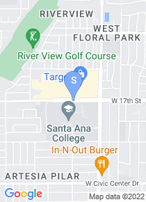 Santa Ana College map