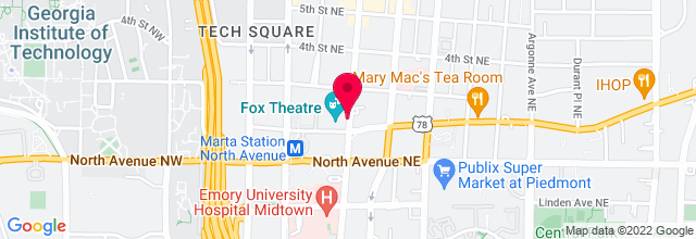 Map for Fox Theatre