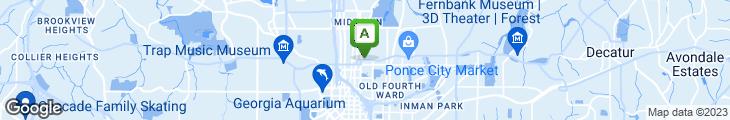 Map of Papi's Midtown