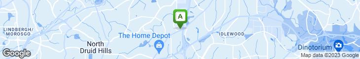 Map of Waffle House