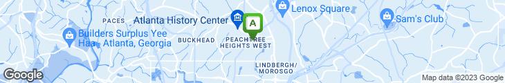 Map of Atlanta Fish Market