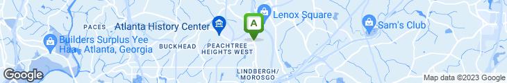 Map of Buckhead Diner