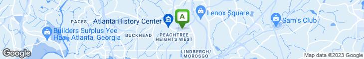 Map of White House Restaurant
