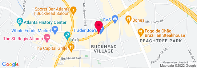 Map for The Peachtree Tavern