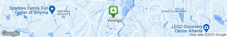 Map of Old Vinings Inn