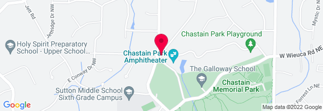 Map for Chastain Park Amphitheatre