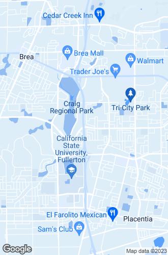Map of Fullerton