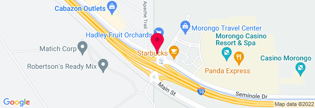 Map for Morongo Casino, Resort & Spa