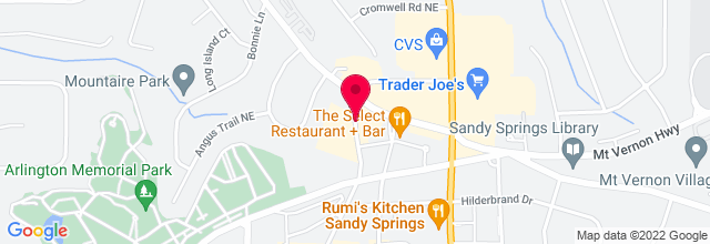 Map for Sandy Springs Farmer's Market