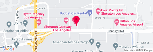 Map for Crowne Plaza Hotel Los Angeles Airport