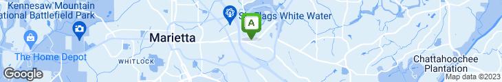 Map of Williamson Bros. Bar-B-Q
