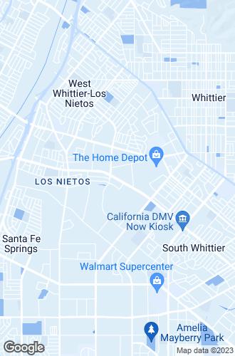 Map of Santa Fe Springs