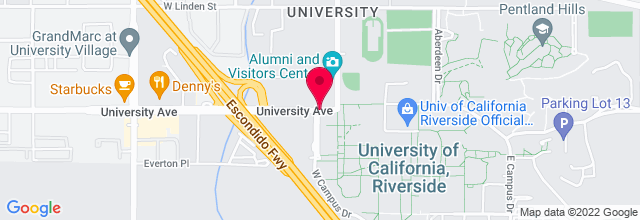 Map for UC Riverside Fine Arts