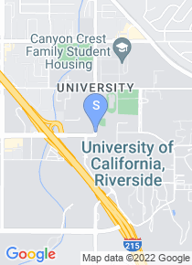 University of California Riverside map