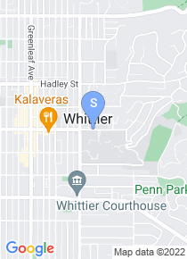 Whittier College map