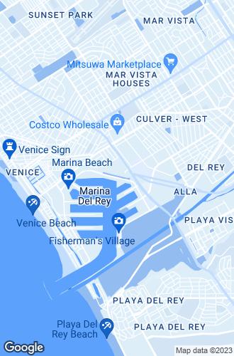 Map of Marina Del Rey