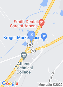 Athens Technical College map