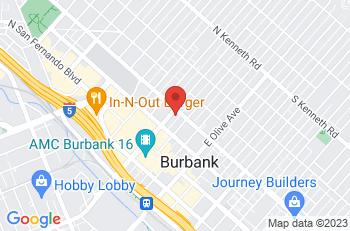 Google Map of 333 North Glenoaks Blvd, Burbank, CA, 91502