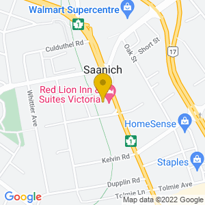 Map to V LOUNGE provided by Google