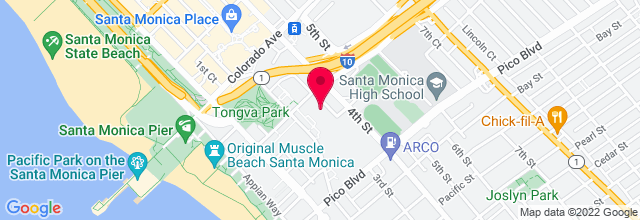 Map for Santa Monica Civic Auditorium