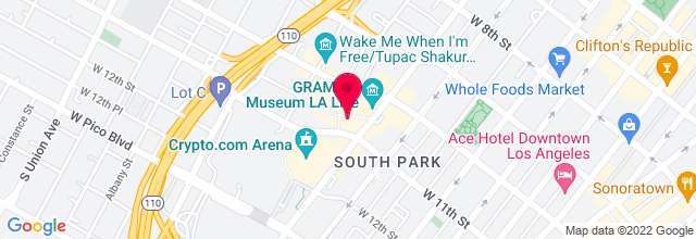 Map for Nokia Theatre L.A. LIVE