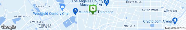 Map of L.A. Burger Bar