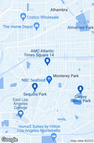 Map of Monterey Park