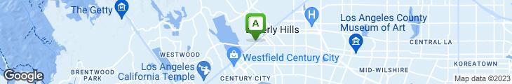 Map of Da Vinci Ristorante - Beverly Hills