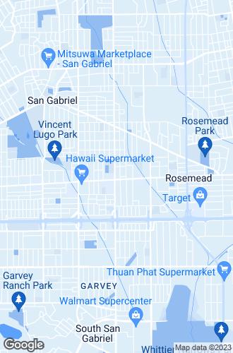 Map of San Gabriel